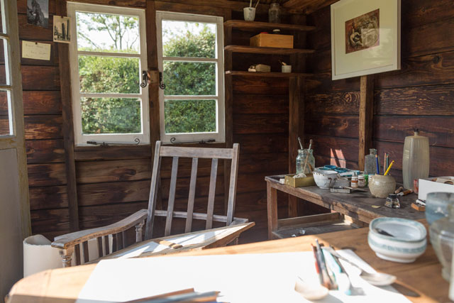 The Summer House, Henry Moore's drawing studio, in the grounds at Henry Moore Studios & Gardens. Reproduced by permission of The Henry Moore Foundation. © The Henry Moore Foundation. Photo: Sarah Mercer.