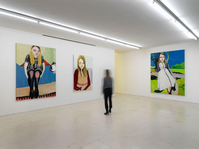 Joffe room. Chantal Joffe, from the exhibition Moll, 2014. Collezione Maramotti, Reggio Emilia, 2019. Photo: Dario Lasagni.