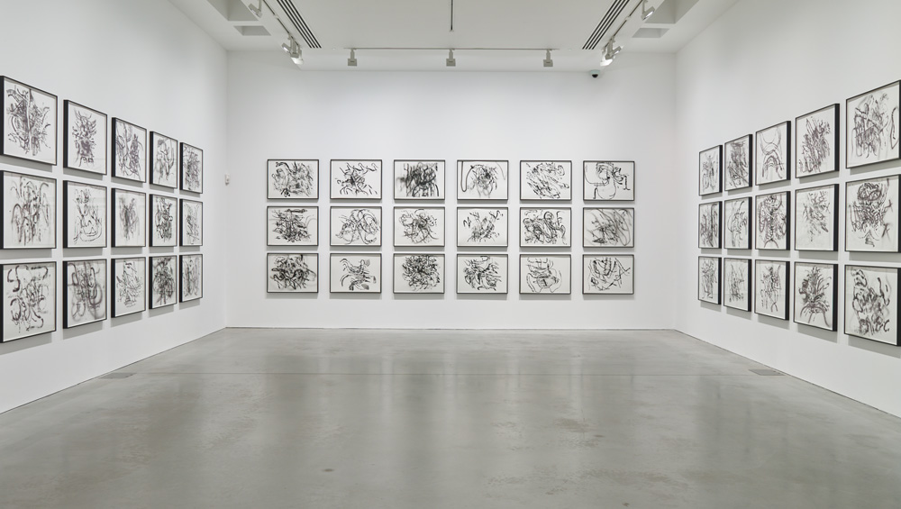In these new works, Mehretu plunges the viewer into her phenomenological, immersive methodology and her mark-making serves to release your own rich store of memories and associations