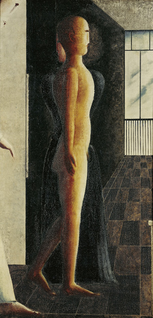 Oskar Schlemmer. Nude, Woman and Coming, 1925. Oil on canvas, 128 x 64.2 cm. Staatliche Museen zu Berlin, Nationalgalerie. © Staatliche Museen zu Berlin,