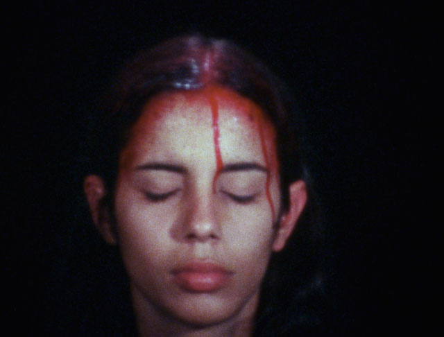 Ana Mendieta. Sweating Blood, 1973. Super 8 film, colour, silent. Photograph: The Estate of Ana Mendieta Collection, LLC. Courtesy of Galerie Lelong & Co.