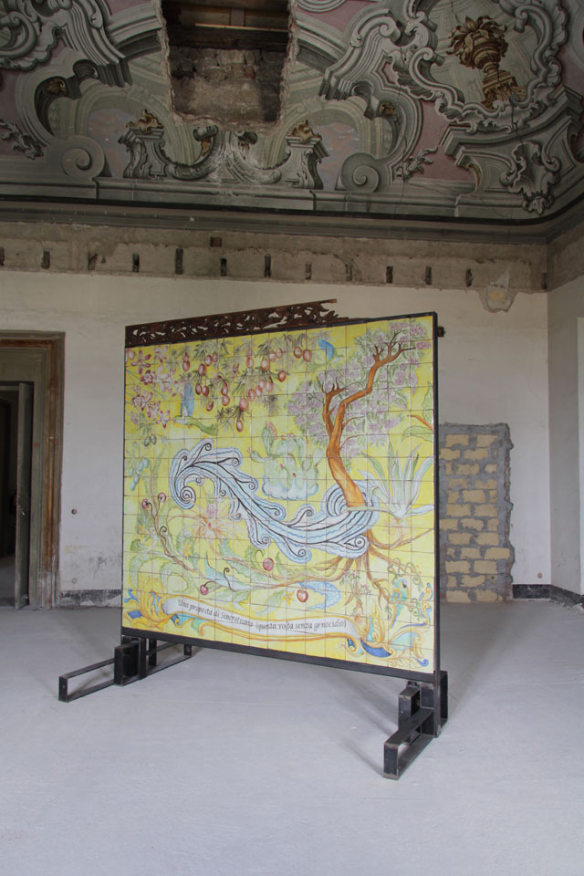 Maria Theresa Alves, A Proposal of Sycretisim (This Time Without Genocide), 2018. Installation. Photograph: Wolfgang Träger. Courtesy of Manifesta 12, Palermo.