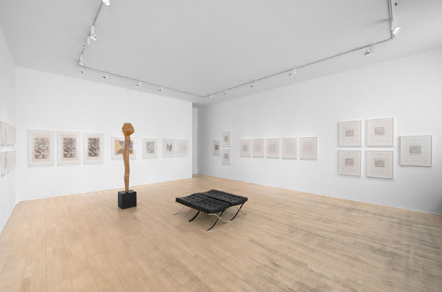 Writing New Codes: Cordeiro / Mallary / Molnár, installation view, The Mayor Gallery, London, 6 June - 27 July 2018.