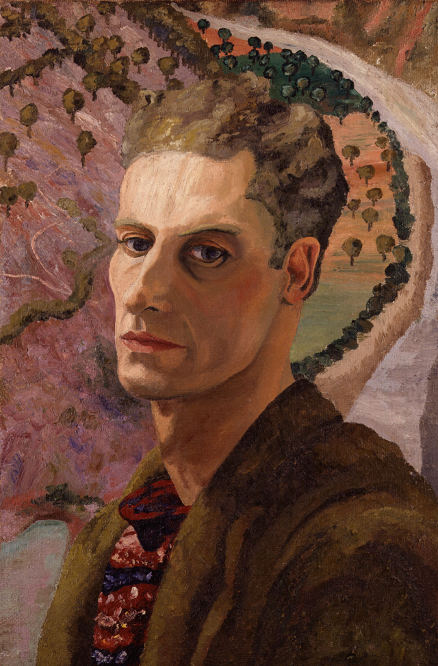 Cedric Morris, c1930 by Sir Cedric Morris. Oil on canvas. © National Portrait Gallery, London. Courtesy the Cedric Morris Estate.