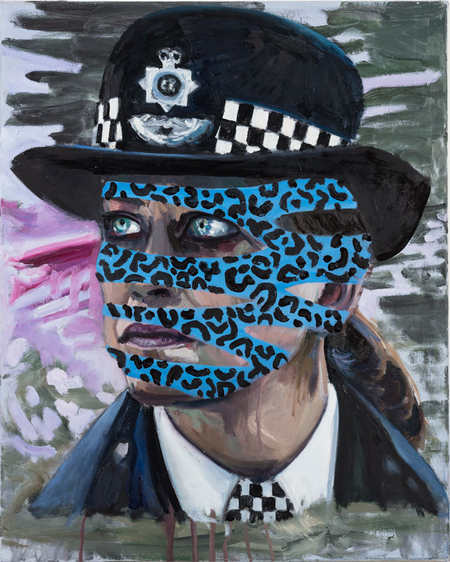 Dawn Mellor. Assistant Commissioner Sharon Franklin (Nicola Walker), 2016. Oil on canvas, 30 x 24 in. © the artist.