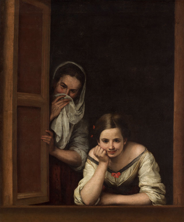 Bartolomé Esteban Murillo. Two Women at a Window, 1655-1660. Oil on canvas, 125.1 × 104.5 cm. National Gallery of Art, Washington, DC. Image courtesy of the Board of Trustees, National Gallery of Art, Washington, DC.