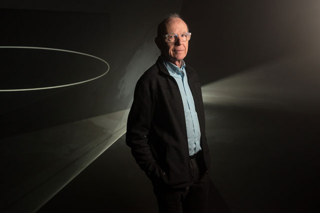 Portrait of Anthony McCall at Hepworth Wakefield. Photograph: Guzelian.