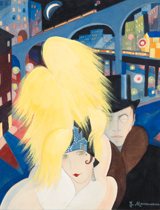 Jeanne Mammen. The City, c1927. Watercolour and pencil on paper, 27.5 x 21 cm. © VG Bild-Kunst, Bonn 2017, Repro: © Kai-Annett Becker.