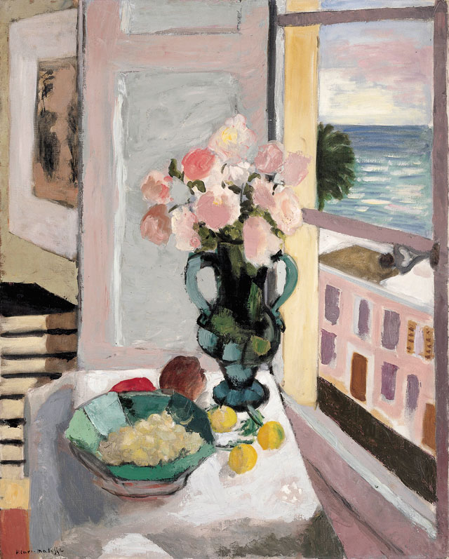 Henri Matisse. Safrano Roses at the Window, 1925. Oil on canvas, 80 x 65 cm. Private collection. Photograph © Private collection. © Succession H. Matisse/DACS 2017.