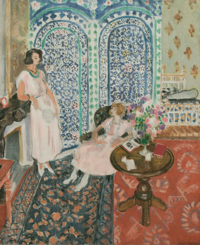 Henri Matisse. The Moorish Screen, 1921. Oil on canvas, 91 x 74 cm. Philadelphia Museum of Art. Bequest of Lisa Norris Elkins, 1950. Photograph © Philadelphia Museum of Art/Art Resource, NY.