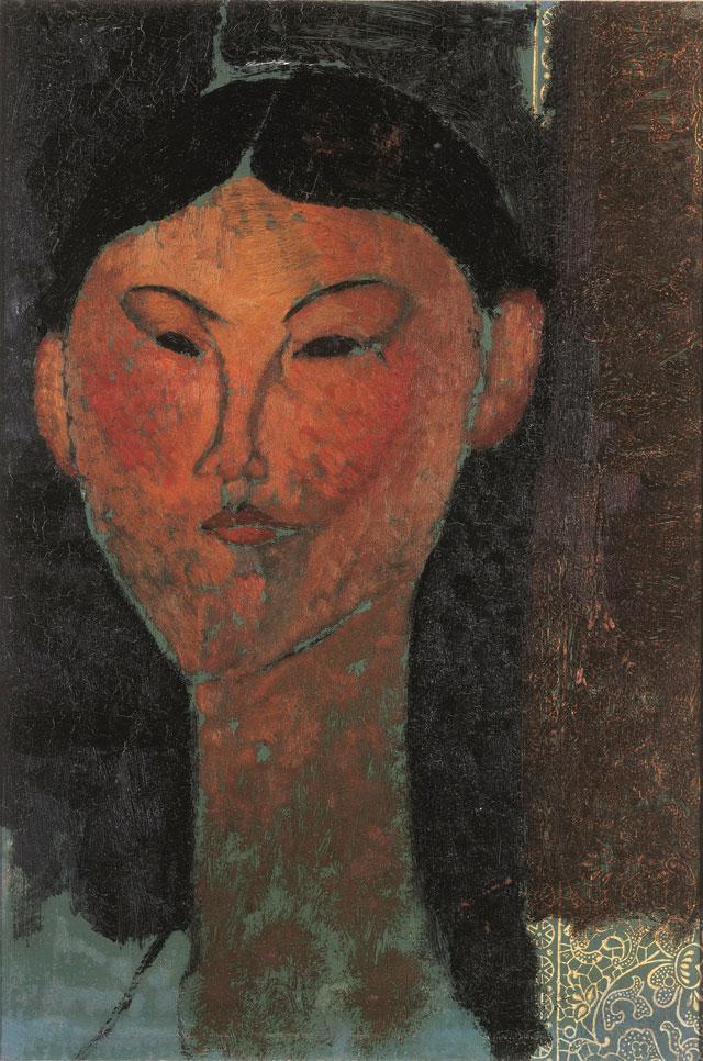 Amedeo Modigliani. Beatrice Hastings, 1915. Oil on paper, 40 x 28.5 cm. Private collection.