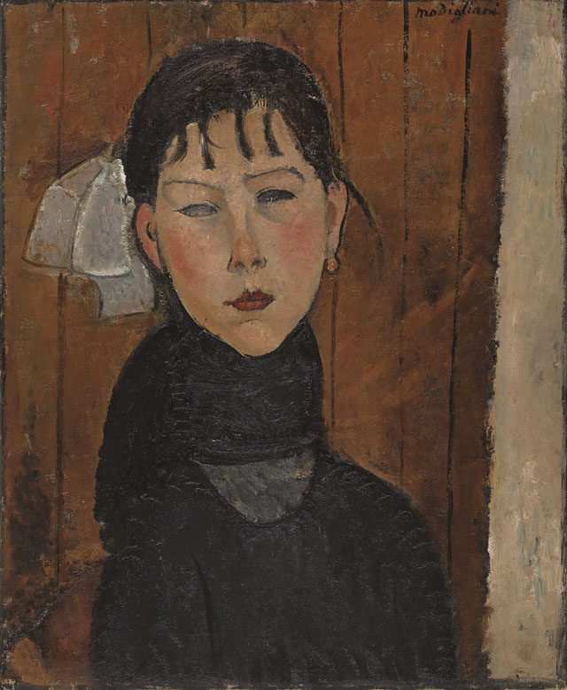 Amedeo Modigliani. Marie (Marie, fille du peuple), 1918. Oil paint on canvas, 61.2 x 49.8 cm. Kunstmuseum Basel, Bequest Dr. Walther Hanhart, Riehen, 1975.