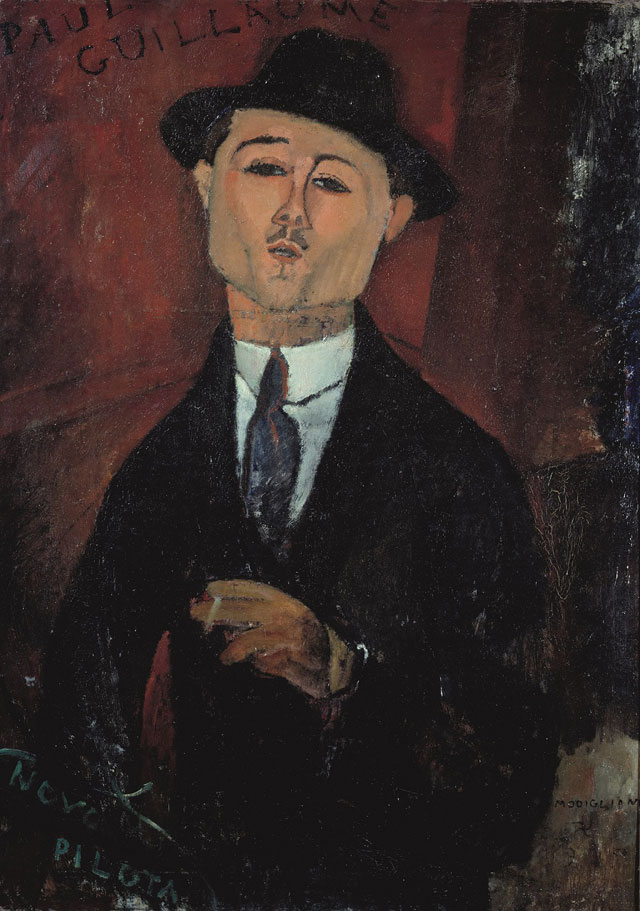 Amedeo Modigliani. Portrait of Paul Guillaume, Novo Pilota, 1915. Oil paint on card mounted on cradled plywood, 123.5 x 92.5 x 10 cm. Musée de l'Orangerie, Paris. Collection Jean Walter and Paul Guillaume.