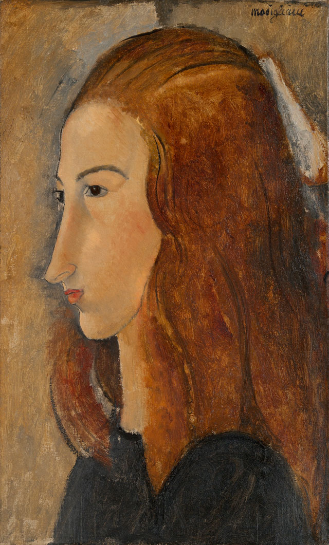 Amedeo Modigliani. Portrait of a Young Woman, 1918. Oil paint on canvas, 45.7 x 28 cm. Yale University Art Gallery.