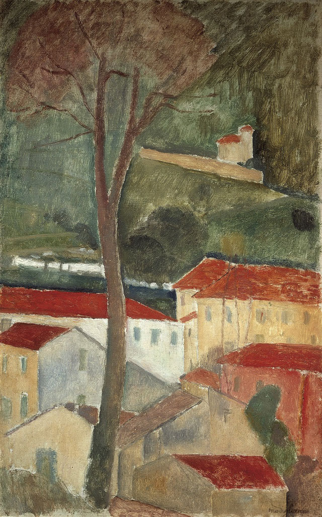 Amedeo Modigliani. Cagnes Landscape, 1919. Oil paint on canvas, 46 x 29 cm. Private collection.