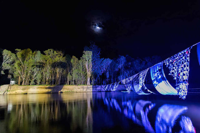 OCG Mary, the Moon and the River Hang – Image James Farley -  On Common Ground – Haunting by Vic McEwan with George Main and Vanishing Point: Swan Hoppers Legacy by Julie Montgarrett with Clytie Smith and Vic McEwan. 2015