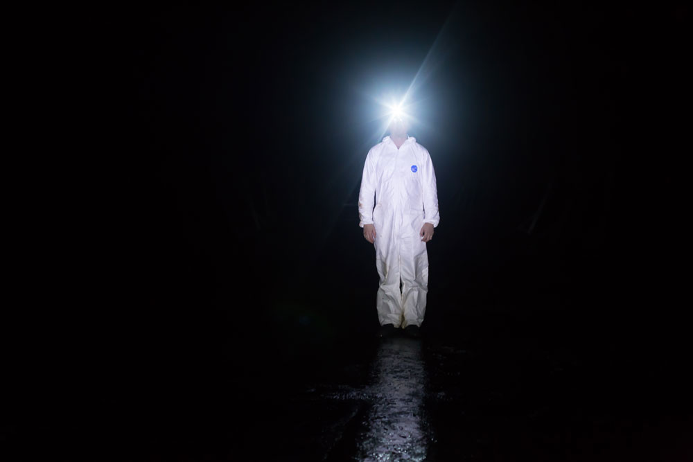 Vic in Oil Tank – North of Inverness, deep inside the Inchindown Oil Tank, searching for the worlds longest reverb.
