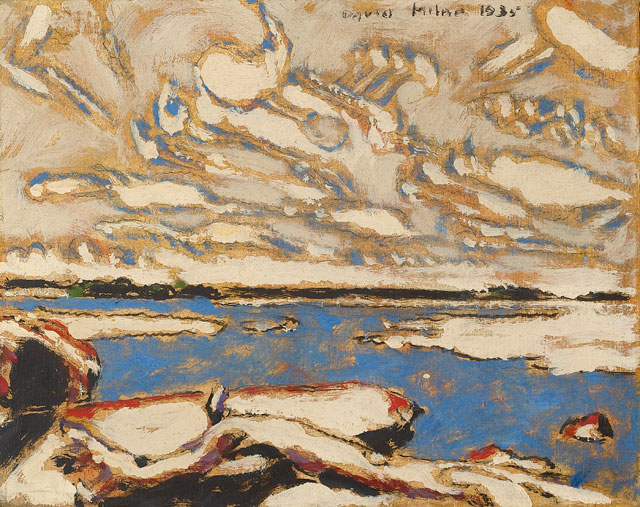 David Milne. Blue Lake, 1935. Art Gallery of Ontario. Gift from the J.S. McLean Collection, by Canada Packers Inc., Toronto, 1990. © The Estate of David Milne.
