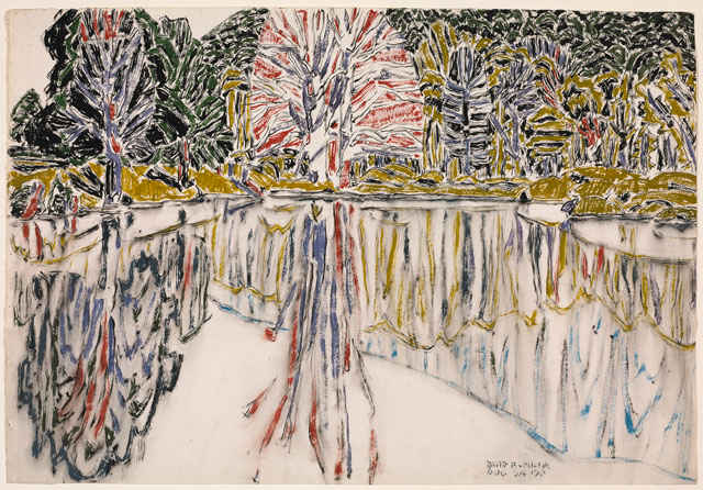 David Milne. Pink Reflections, Bishop's Pond, 1920. National Gallery of Canada, Ottawa, Gift from the Douglas M. Duncan Collection, 1970. Photograph: NGC. © The Estate of David Milne.