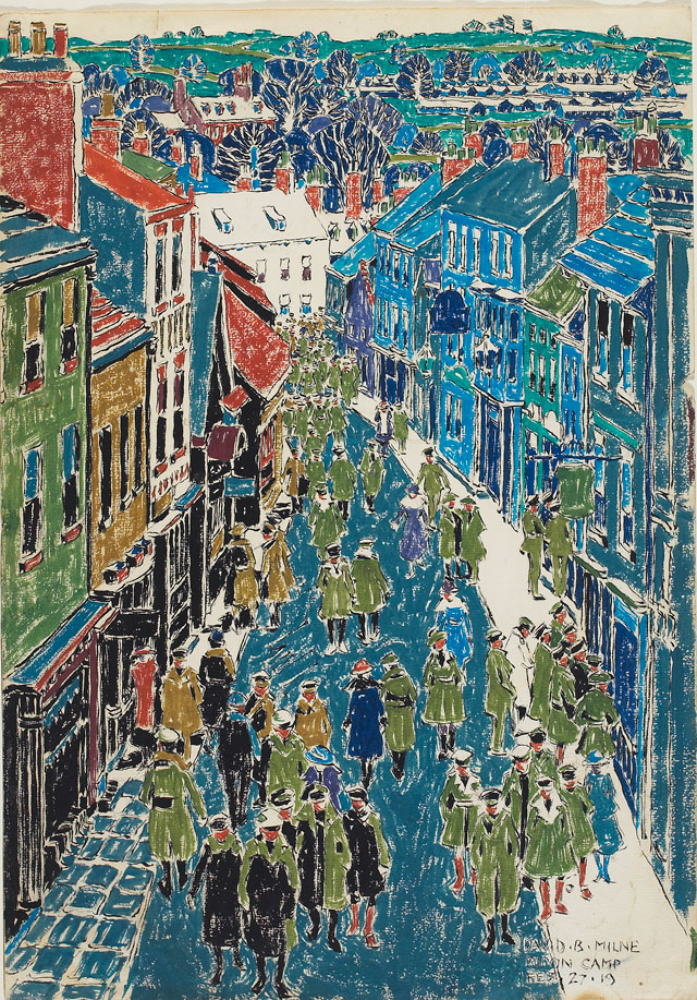David Milne. Ripon: High Street, 1919. Art Gallery of Ontario. Bequest of Mrs. J.P. Barwick (from the Douglas M. Duncan Collection), 1985. © The Estate of David Milne.