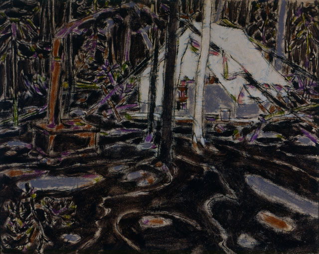 David Milne. Tent in Temagami, 1929. Collection of the Tom Thomson Art Gallery, Owen Sound, Ontario, bequest from the Douglas M. Duncan Collection, 1970. © The Estate of David Milne.