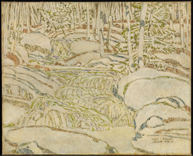 David Milne. White the Waterfall (The White Waterfall), 1921. National Gallery of Canada, Ottawa. Photo: NGC. © The Estate of David Milne.