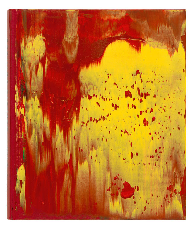 Gerhard Richter. War Cut II, 2004. Oil on book cover, 25.5 x 21.8 cm (10 x 8 2/3 in). Courtesy Galerie Ludorff, Düsseldorf.