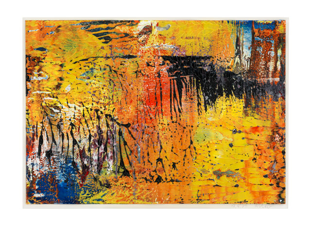 Gerhard Richter. Ohne Titel (17.4.89), 1989. Oil on cardboard, 29.5 x 42 cm (11 2/3 x 16 1/2 in). Courtesy Galerie Ludorff, Düsseldorf.
