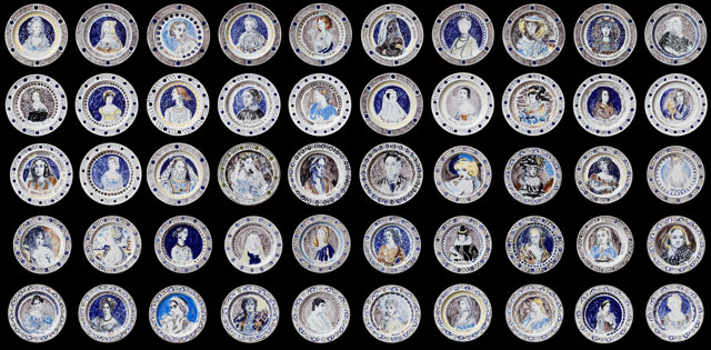 Famous Women Dinner Service made by Vanessa Bell and Duncan Grant in 1932.