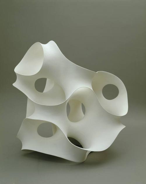 Eva Hild. <em>Complex 1</em>, 2003. Stoneware. Overall: 27 1/2 x 27 1/2 x 19 3/4in. (69.9 x 69.9 x 50.2cm). Museum of Arts & Design, New York. Museum purchase with funds provided by the Horace W. Goldsmith Foundation, 2004. Photo credit: Ed Watkins, 2007.