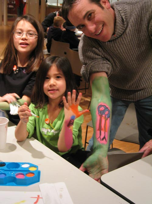 Family body painting. Courtesy Museum of Art and Design.