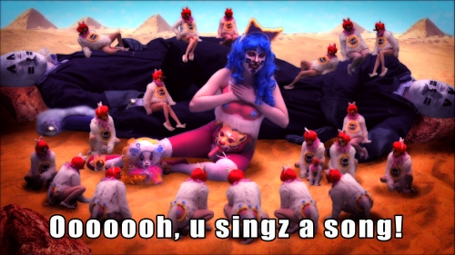 Rachel Maclean, Still from Lolcats, 2012, Digital Video, 13mins, Commissioned by VERL, Dundee