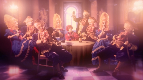 Rachel Maclean, Still from Please, Sir..., 2014, Split Screen Digital Video, 25mins, Commissioned by CCA, Glasgow