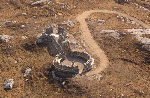 Will Maclean and Marian Leven. Reef aerial view, Isle of Lewis 2013.