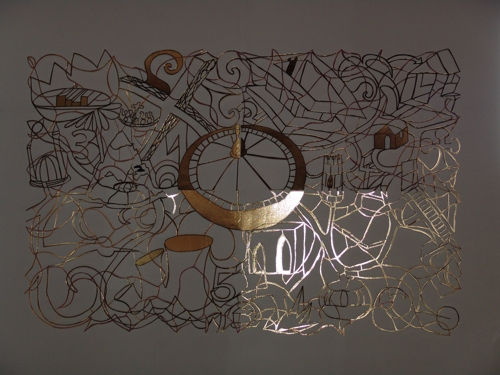 Stefan SAFER, 'Golden Edge', 2004. Cut out (8 pieces), golden cardboard, 