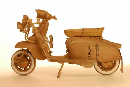 Chris GILMOUR, 'Mood Lambretta', 2005. Cardboard and glue, life size. 