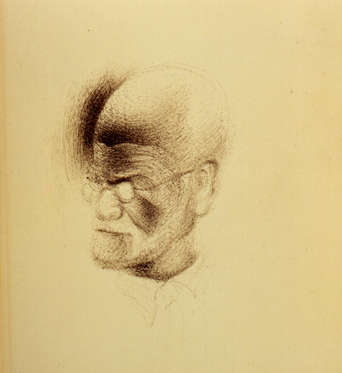 Salvador Dali. Drawing of Sigmund Freud. © Freud Museum, London.
