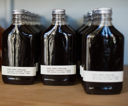 Chocolate Whiskey. Kings County Distillery. Photograph: Valery Rizzo.