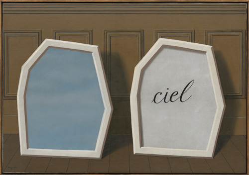 René Magritte. Le Palais de rideaux, III (The Palace of Curtains, III), 1928-29. Oil on canvas, 32 x 45 7/8″ (81.2 x 116.4 cm). Museum of Modern Art, New York. The Sidney and Harriet Janis Collection. © Charly Herscovici - ADAGP – ARS, 2013.
