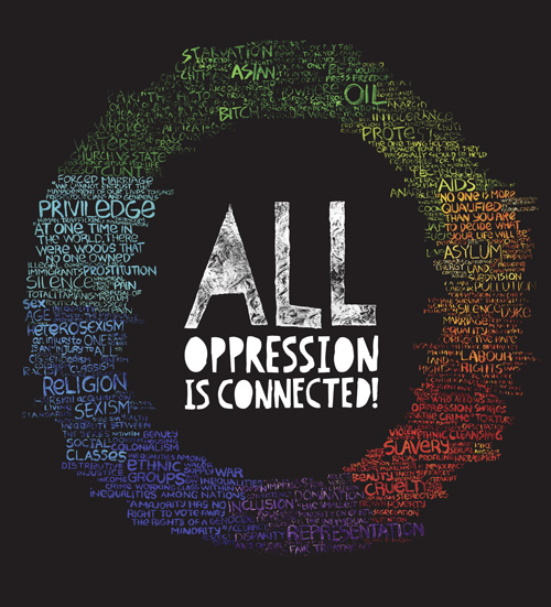 Jim Chuchu, All Oppression Is Connected, 2013, Poster, digital print, 140 × 140 cm © Jim Chuchu, 2013.