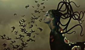 Wangechi Mutu. The End of Eating Everything, 2010. Animated film, 8 min 10 sec, edition of 6. Courtesy of Victoria Miro Gallery, London © Wangechi Mutu.