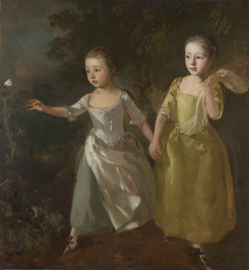 Thomas Gainsborough. The Painter's Daughters chasing a Butterfly, c1756. Oil on canvas. The National Gallery, London. Henry Vaughan Bequest, 1900. © The National Gallery, London.