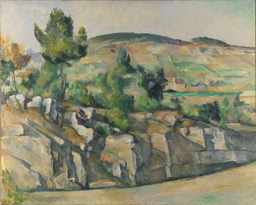 Paul Cézanne. Hillside in Provence, c1890-2. Oil on canvas, 63.5 x 79.4 cm. The National Gallery, London.