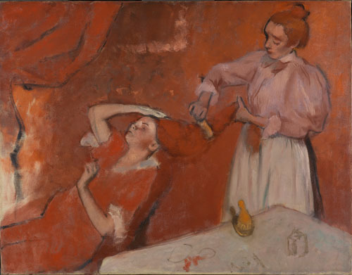 Hilaire Germain Edgar Degas. Combing the Hair ('La Coiffure'), c1896. Oil on canvas, 114.3 x 146.7 cm. The National Gallery, London.