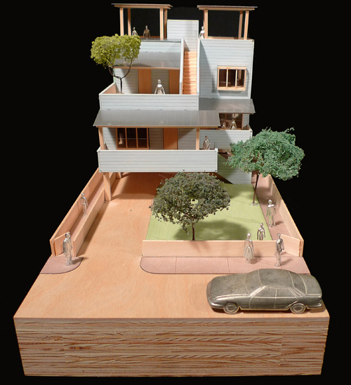 Gehry Partners LLP. A two-family home. Image Courtesy of Gehry Partners, LLP.