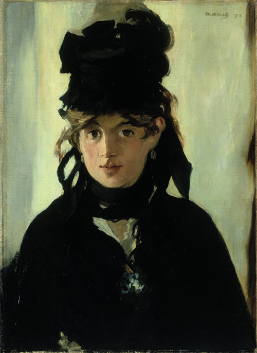 Edouard Manet. Berthe Morisot with a Bouquet of Violets, 1872. Oil on canvas, 55.5 x 40.5 cm. Musee d Orsay, Paris. Acquis avec la participation du Fonds du Patrimoine, de la Fondation Meyer, de Chine Times Group et d un mecenat coordonne par le quotidien Nikkei, 1998. Photograph copyright RMN (Musee d'Orsay)/Herve Lewandowski.