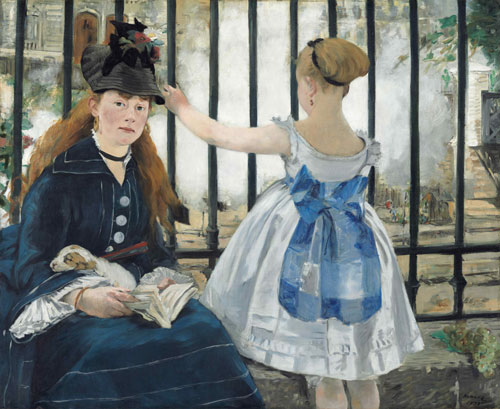 Edouard Manet. The Railway, 1873. Oil on canvas, 93.3 x 111.5 cm. National Gallery of Art, Washington, Gift of Horace Havemeyer in memory of his mother, Louisine W. Havemeyer, 1956.10.1. Photograph courtesy of the National Gallery of Art, Washington.