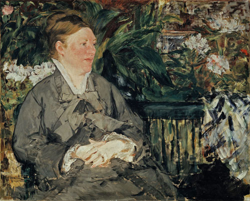 Edouard Manet. Mme Manet in the Conservatory, 1879. Oil on canvas, 81 x 100 cm. The National Museum of Art, Architecture and Design, Oslo. Photograph: Borre Hostland.