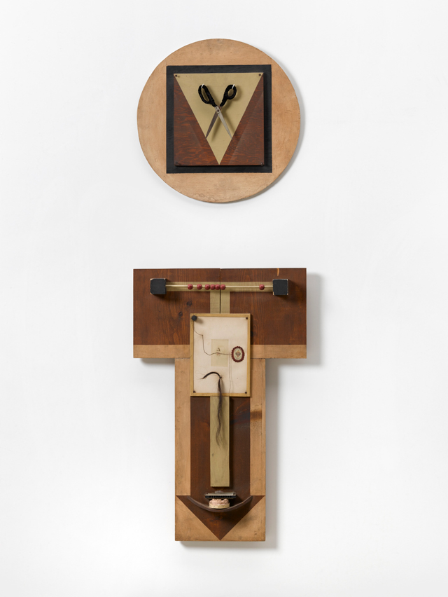 Robert Mapplethorpe. Untitled (2-Part Wood Collage), 1970. Wood, metal, plaster, found objects mounted on wood, 91.4 x 58.4 cm. Courtesy Galerie Thaddeus Ropac, Paris/Salzburg. © Robert Mapplethorpe Foundation. Used by permission. Photograph: Ulrich Ghezzi.