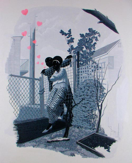 Kerry James Marshall. <em>Vignette IV</em>, 2005. Acrylic on plexiglass. Collection of the artist. Courtesy Jack Shainman Gallery, New York.